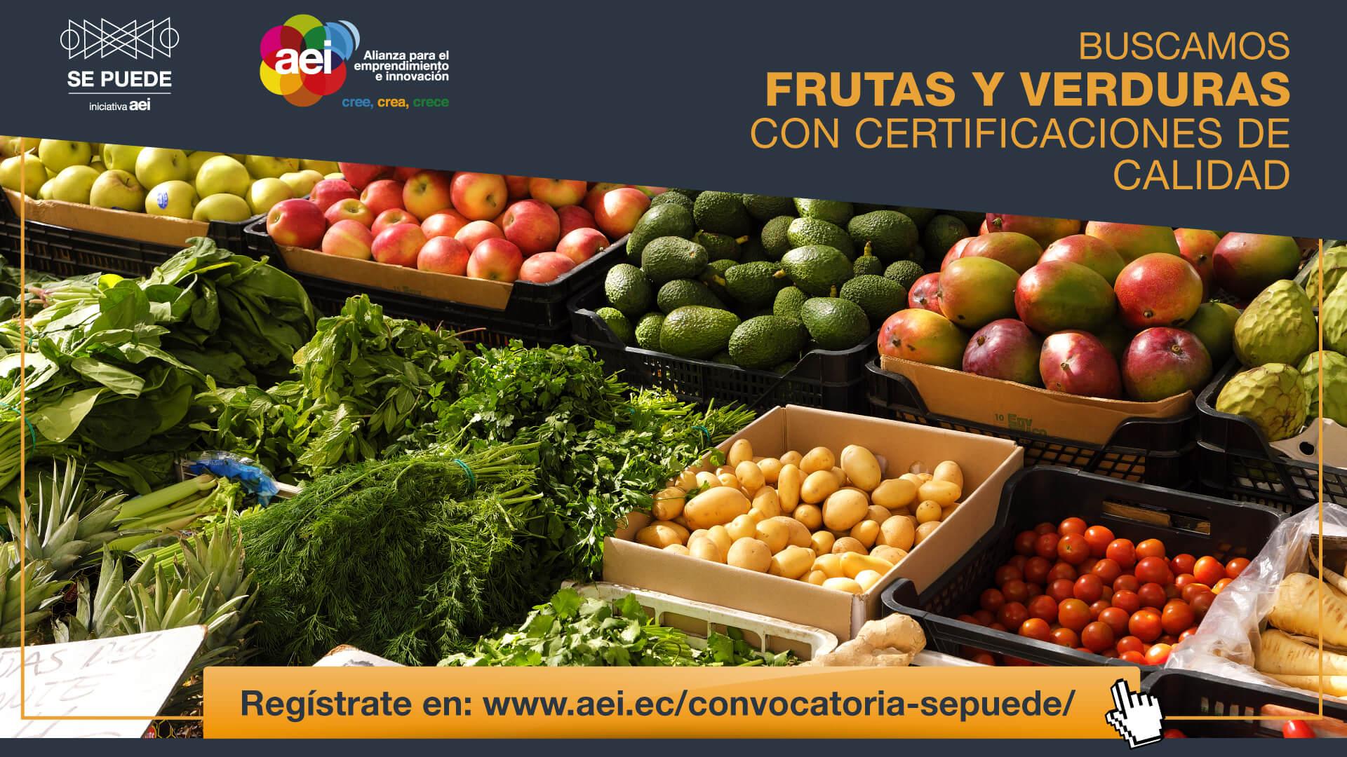 Convocatoria de Mercado  SE PUEDE – Frutas y verduras