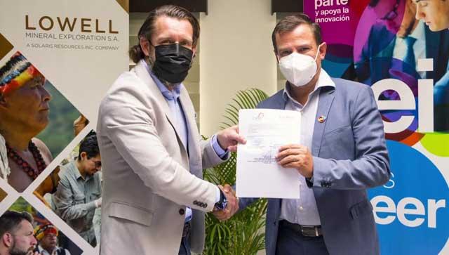 Lowell Mineral Exploration Ecuador S.A. se adhiere al Ecosistema Sectorial de emprendimiento e innovación en minería responsable