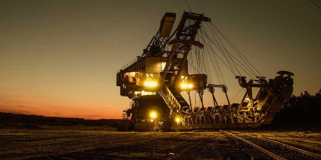 Excavadora para minería