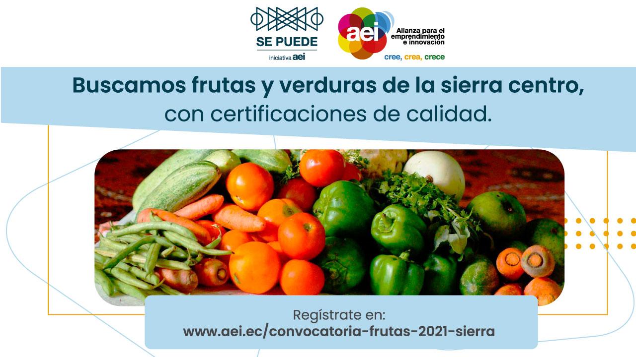 Convocatoria de Mercado  SE PUEDE 2021 – Frutas y verduras Sierra