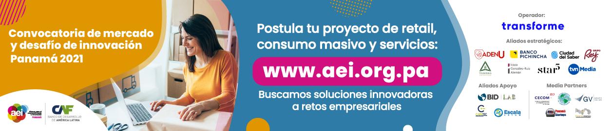 Banner convocatoria de mercado 2021 AEI Panamá