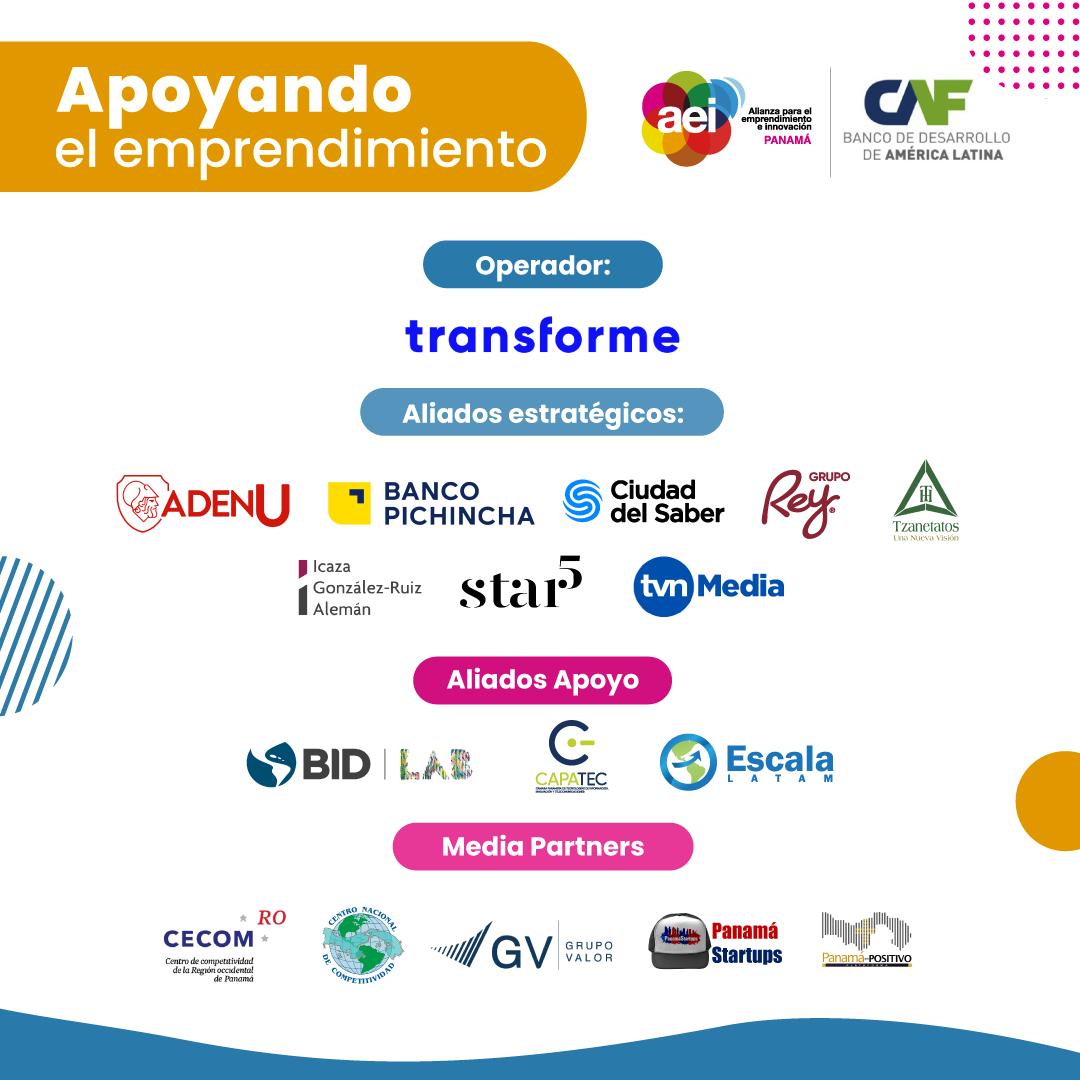 Aliados que apoyan la convocatoria de mercado Panamá 2021